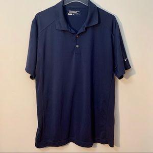 Nike Golf Tour Performance Dri Fit Blue Polo Shirt
